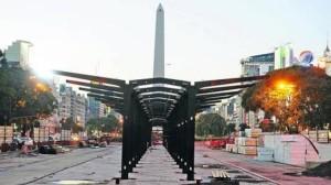 Metrobus 9 de Julio Construcción